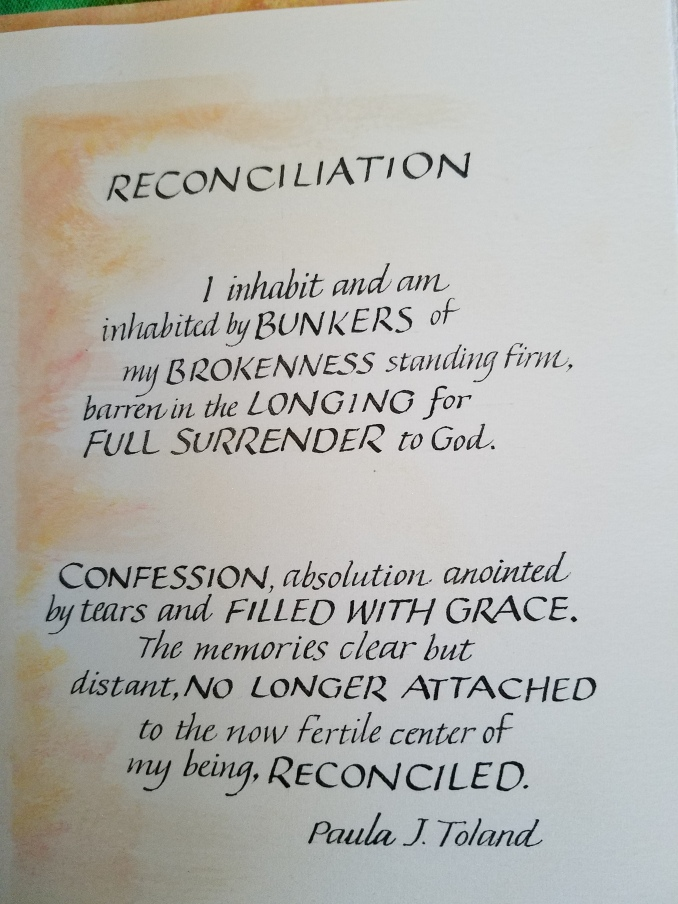 Poem on reconciliation